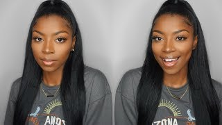 EASY Half Up Half Down Hairstyle Ft. BetterLength YAKI Clip-In Hair Extensions!