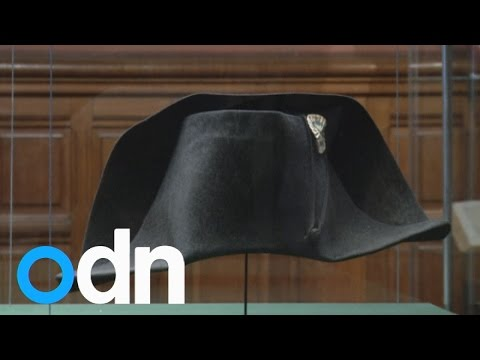 This is the hat Napoleon actually wore at the Battle of Waterloo