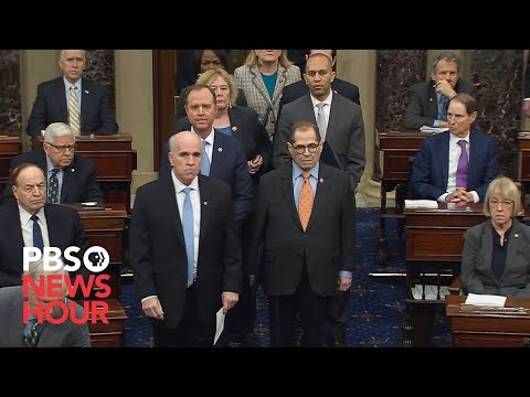 WATCH: Democrats formally deliver articles of impeachment to the Senate