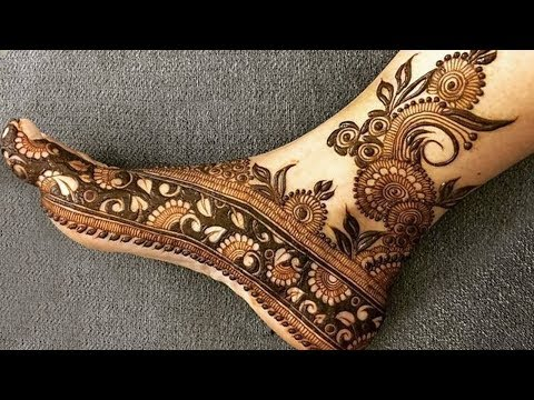 bridal foot mehndi design ideas by she trends