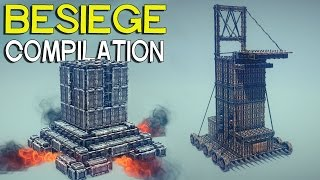 ►Besiege Compilation - Medieval siege weapons