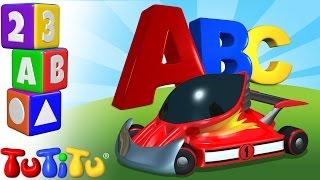 TuTiTu Englisch lernen | Das Englische Alphabet | ABC auf Englisch Lernen | ABC Rennwagen