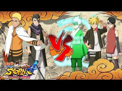 Hokage Naruto & Kawaki vs Team Konohamaru - Naruto Shippuden Ultimate Ninja Storm 4 Road to Boruto