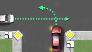 ПДД: Проезд перекрестков. Пешеходные переходы и места остановок маршрутных транспортных средств