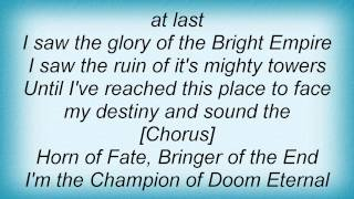 Domine - Horn Of Fate Lyrics