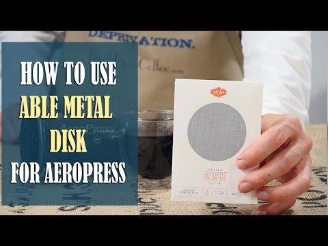 How to make great Coffee with Able Metal Disk Filter for Aeropress (instructions) + Aeropress Recipe