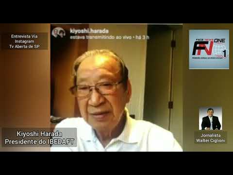 Entrevista de Kiyoshi Harada, presidente do IBEDAFT, ao jornalista Walter Ciglioni
