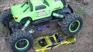 Maisto rc rock crawler crawling crushed cars