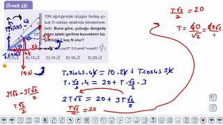 Eğitim Vadisi 11.Sınıf Fizik 13.Föy Tork 4 (Örnek Soru Çözümleri) Konu Anlatım Videoları