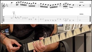 How to play 'Sixpounder' by Children Of Bodom Guitar Solo Lesson w/tabs pt2