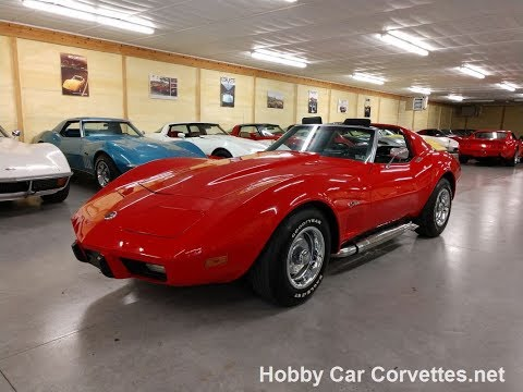 1975 Real Mille Miglia Red Corvette Stingray T-Top Video