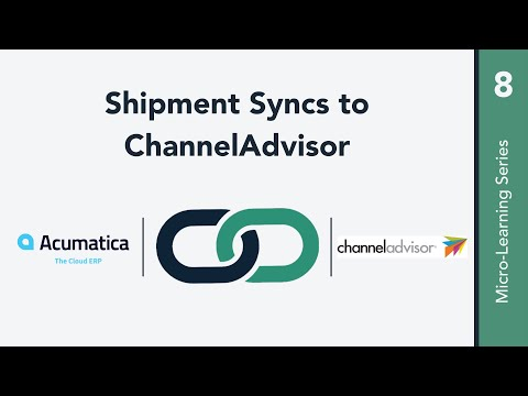 Shipment Syncs to ChannelAdvisor