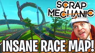 Scrap Mechanic - INSANE RACE MAP CHALLENGE!! W/AshDubh - [#64] | Gameplay