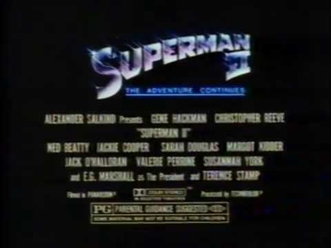 Superman II 1981 TV trailer