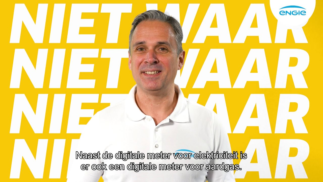 De digitale meter is enkel voor elektriciteit.