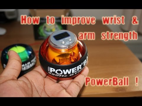 Powerball Gyroscope Exerciser Unboxing & Review - How to improve wrist and arm strength for hockey