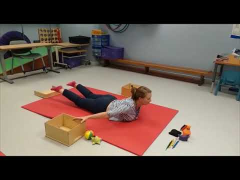 Screenshot of video: Exercises to develop core and shoulder strength