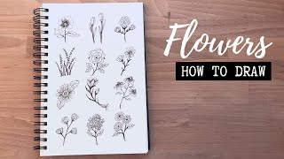 How To Draw Flowers Ll Flower Doodles