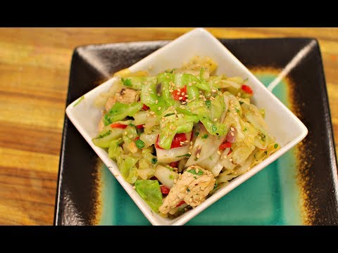 Keto Fried Cabbage and Chicken – ketogenic diet- low carb recipe – healthy recipe