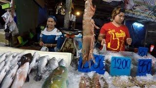 Пробежка по пляжу и обжираловка на рыбном рынке