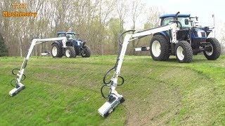 Most Satisfying Modern Technology, Cutting Grass On Roadside Machine