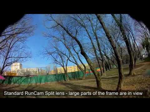 RC25G lens vs standard RunCam Split lens