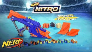 "Бластер-трек Hasbro Nerf Nitro MotoFury Rapid Rally от компании Интернет-магазин ""Timatoma"" - видео"