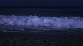 Fall Asleep with Powerful Waves at Night on Museddu Beach - Ocean Sounds for Deep Sleeping