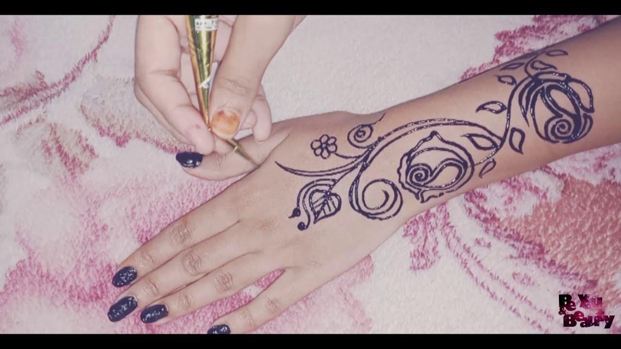color mehndi design by kha sabiha