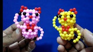 #Beads Animal Keychain,#Gantungan Kunci  Kucing Hoky Manik Manik,kucing Keberuntungan ,pelangi Shop