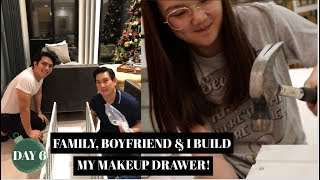 BUILDING MY MAKEUP DRAWER WITH MY BOYS! (VLOGMAS DAY 6, 2018) | ASHLEY SANDRINE