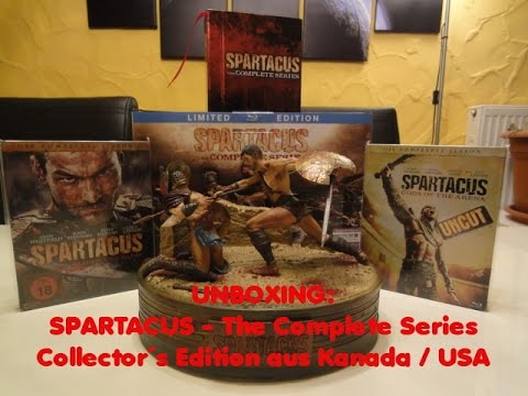 , title : 'Unboxing - Spartacus - The Complete Series - Collector´s Edition aus Kanada'
