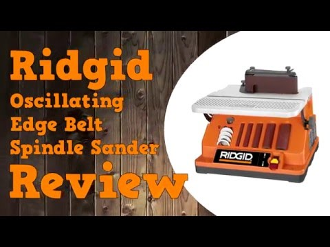 Ridgid Oscillating Spindle Belt Sander Review EB4424