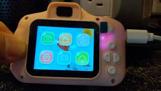 CHILDRENS CAMERA DEMONSTRATION AND REVIEW GOOPOW KID FRIENDLY CAMERA