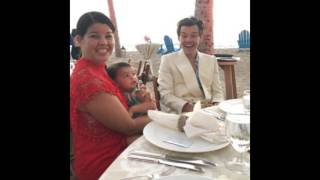 Harry Styles and some friends at Jon Geller's wedding in Hawaii