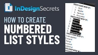 InDesign How-To: Create Numbered List Styles (Video Tutorial)