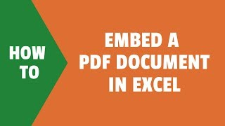 How to Embed a PDF Document in Excel (Step-by-Step)