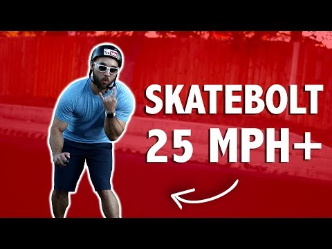 25 MPH+ ELECTRIC SKATEBOARD (skatebolt review)
