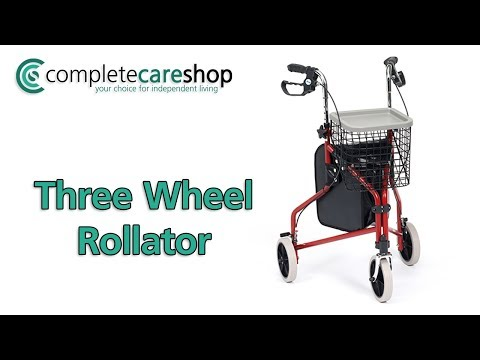 Rollator With Puncture Proof Wheels
