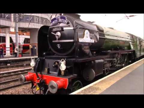 Flying Scotsman and Tornado at Doncaster 29th April 2017
