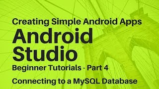 Android Studio For Beginners Part 4