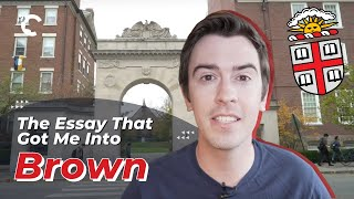 youtube video thumbnail - The Essay That Got Me Into Brown University
