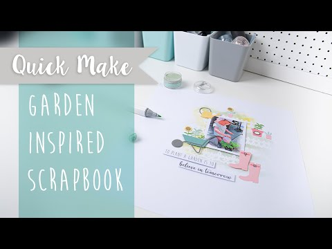 Garden Inspired Scrapbook - Sizzix