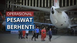 Mulai Jumat 24 April 2020, Pesawat Terbang Komersil Resmi Berhenti Beroperasi
