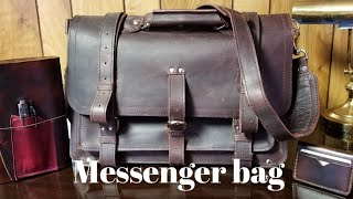 Leather Messenger Bag By For The King Trading Co