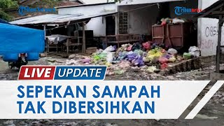 Sepekan Sampah Tak Diangkut, Warga dan Pedagang di Pasar Tinambung Polman Keluhkan Aroma Bau Busuk