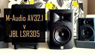 M-Audio AV32.1 vs JBL LSR305 Sound Test