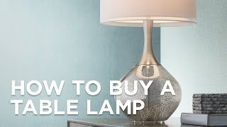 Table Lamp Buying Guide