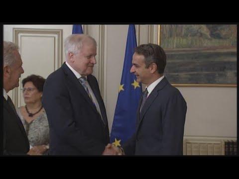 Συνάντηση του Κ. Μητσοτάκη με τον υπουργό Εσωτερικών της Γερμανίας