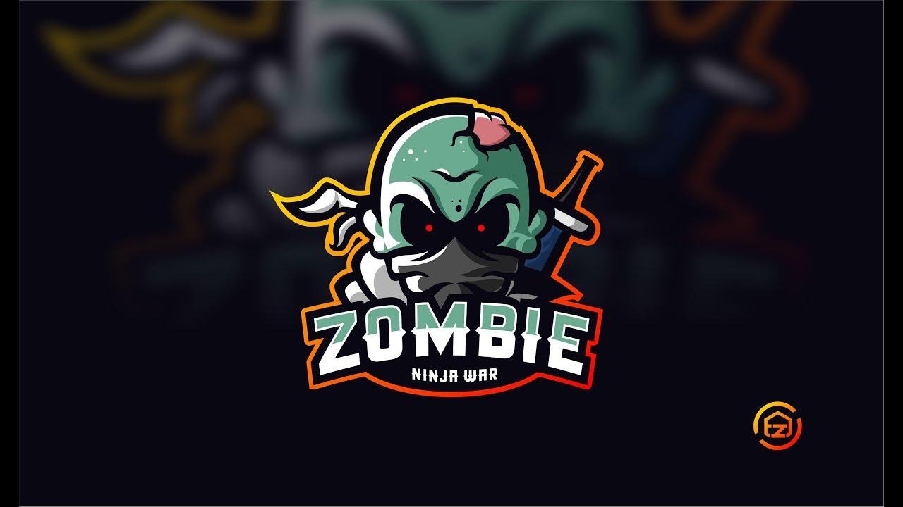 Corel Draw Tutorial | Make Gaming Logo | Zombie Ninja War by